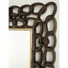 Mottled Copper Links Mirror