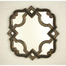 Black Gold Serpentine Mirror