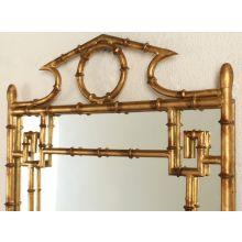 Antique Gold Bamboo Mirror
