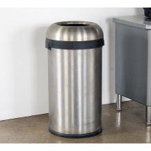 Round Metal Trash Receptacle
