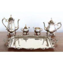 Silver Plated Tea Set - 5 piece