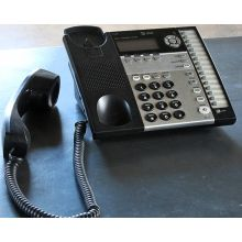 Black and Silver Office Telephone