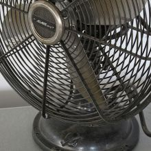 Vintage Black Industrial Table Fan