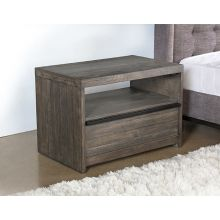 Gray-Washed Reclaimed Wood Nightstand