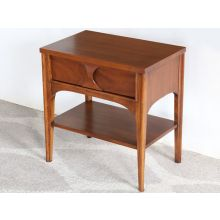 Mid-Century Walnut and Rosewood Perspecta Nightstand, Vintage 1960's