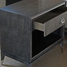 Black Maple Nightstand with Mother of Pearl Accent