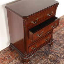 Mahogany Chippendale Four Drawer Nightstand