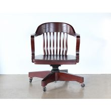 Rolling Bank Of England Desk Chairs With Arms