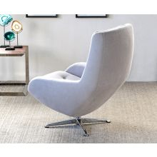 Modern Tufted Office Chair in Light Gray