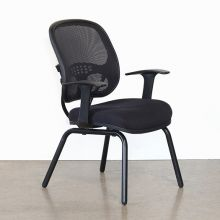 Black Mesh Non-Rolling Office Chair