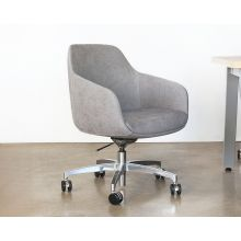 Mid-Century Style Grey Conference Chair