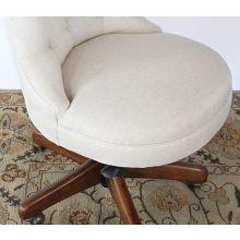 Fawn Scroll Back Armless Desk Chair