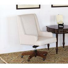 Fawn Linen Desk Chair