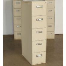 5 Drawer Beige Office File Cabinet
