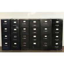 4 Drawer Black Office File Cabinet