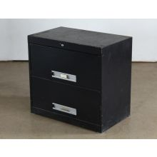 2 Drawer Black Lateral Office File Cabinet