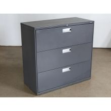 3 Drawer Gray Lateral Office File Cabinet