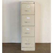 4 Drawer Beige Office File Cabinet