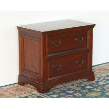 Two Drawer Cherry File Cabinet