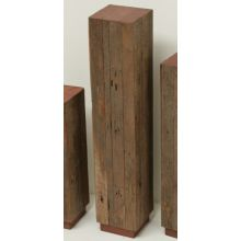 Large Reclaimed Red Wood and Teak Pedestal