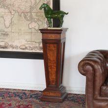 Popular Burl Panel Tapered Pedestal Wood Column