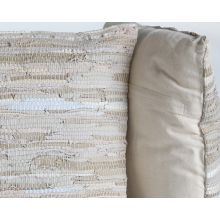 Stitch Stone Leather Pillow
