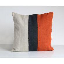 Block Stripe Red Pillow