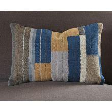 Blue Color Block Pillow