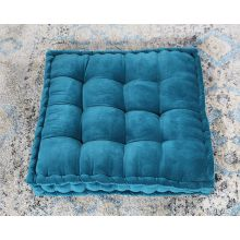 Vivid Teal Tufted Floor Pillow