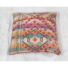 Red & Grass Green Tribal Floor Pillow