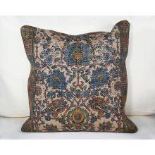 Blue & Khaki Tribal Pillow