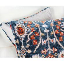 Teal & Orange Woven Tribal Pillow