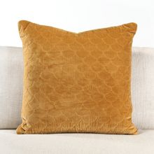 Marigold Quilted Velvet Pillow