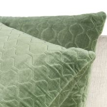 Moss Quilted Velvet Pillow