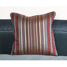 Multi-colored Dark Tone Striped  Pillows