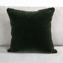 Green Velvet Square Pillow