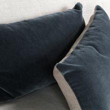 Slate Velvet Rectangular Pillow