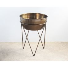 Luna Planter in Weathered Brass