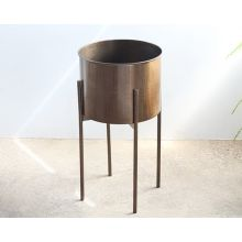 Jed Planter in Weathered Brass