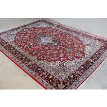 "10'2"" x 13'7"" Red and Blue Najafabad Persian Rug circa 1965"