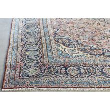 "9'3"" x 13'4"" Pale Blue and Rose Najafabad Persian Rug Circa 1965"