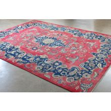 "10'2"" x 13'3"" Ornate Red and Blue Najafabad Persian Rug Circa 1965"