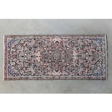 "3'8"" x 8'4"" Rose Hamadan Persian Runner Circa 1965"