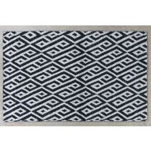 5X8 Ink/Taupe Tribal Inspired Patterned Wool Rug