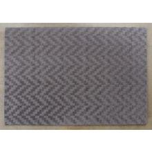 8' X 11' Stone 100% Wool Geometric Patterned Rug