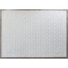 8' X 11' Buff  100% Wool Geometric Patterned Rug