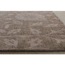 9' x 13' Mocha Floral Wool Rug