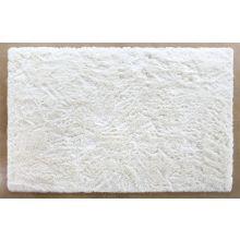 9' x 13' Ivory Plush Shag Rug