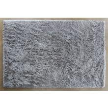 9' x 13' Silver Plush Shag Rug