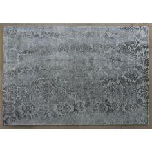 9' x 13' Charcoal  Damask Patterned Rug